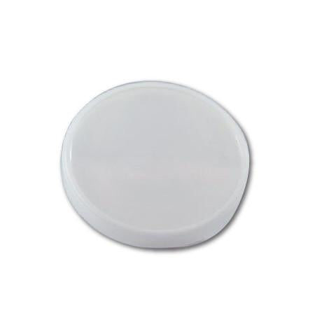 FLAT LIDS FOR 16 OZ. PAPER ICE CREAM FOR CONTAINER FOR ( WHITE ) - CarryOut Supplies