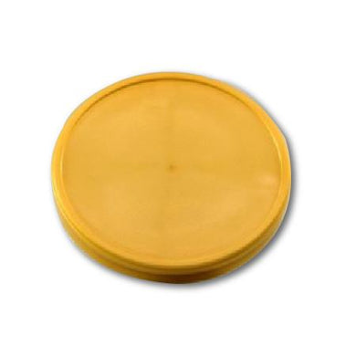 FLAT LIDS FOR 16 OZ. PAPER ICE CREAM FOR CONTAINER FOR ( GOLD ) - CarryOut Supplies