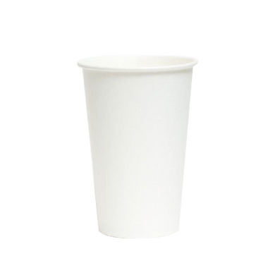 PAPER COLD CUPS (16 OZ.) - PLAIN WHITE - 1000pcs - CarryOut Supplies
