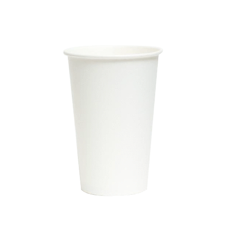 2000 Pcs - PAPER COLD CUPS (16 OZ.) - PLAIN WHITE - CarryOut Supplies