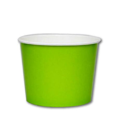 16 OZ. PAPER YOGURT CUPS 1000 PCS/CS - GREEN - CarryOut Supplies