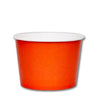 16 OZ. PAPER YOGURT CUPS 1000 PCS/CS - ORANGE - CarryOut Supplies