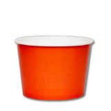 16 OZ. PAPER YOGURT CUPS 1000 PCS/CS - ORANGE