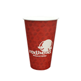 40 CASES - 16 OZ. CUSTOM PRINTED COFFEE CUPS - 50% DEPOSIT REQUIRED - 76.25/CS