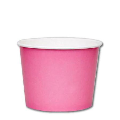16 OZ. PAPER YOGURT CUPS 1000 PCS/CS - PINK - CarryOut Supplies