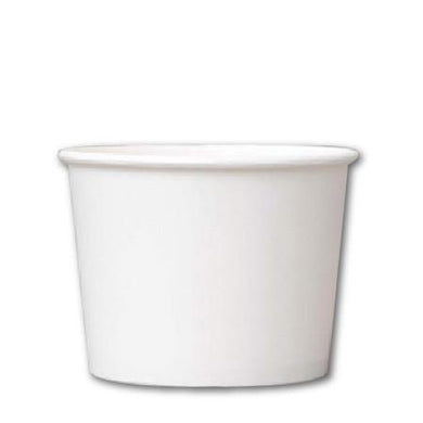16 OZ. PAPER YOGURT CUPS 1000 PCS/CS - PLAIN WHITE - CarryOut Supplies