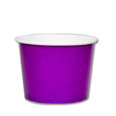 16 OZ. PAPER YOGURT CUPS 1000 PCS/CS - PURPLE
