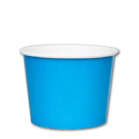 16 OZ. PAPER YOGURT CUPS 1000 PCS/CS - BLUE