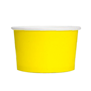16 OZ. PAPER YOGURT CUPS 1000 PCS/CS - YELLOW - CarryOut Supplies