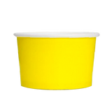 16 OZ. PAPER YOGURT CUPS 1000 PCS/CS - YELLOW