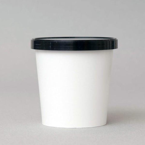 16 OZ. PAPER ICE CREAM CONTAINER - WHITE - 1000 PCS/CS