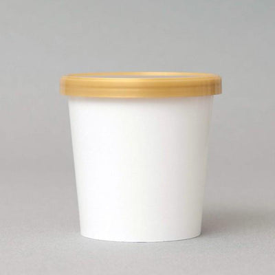 Flat Lid for 16oz Paper Ice Cream Container Gold Apo cup