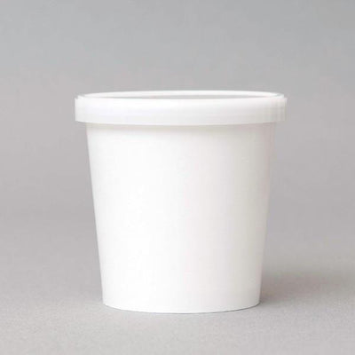 Wanderlust - FLAT LIDS FOR 16 OZ. PAPER ICE CREAM FOR CONTAINER FOR ( WHITE ) - CarryOut Supplies