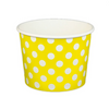 16 OZ. PAPER YOGURT CUPS, POLKA DOT YELLOW - 1,000 PCS/CS - (Item: 21666) - CarryOut Supplies