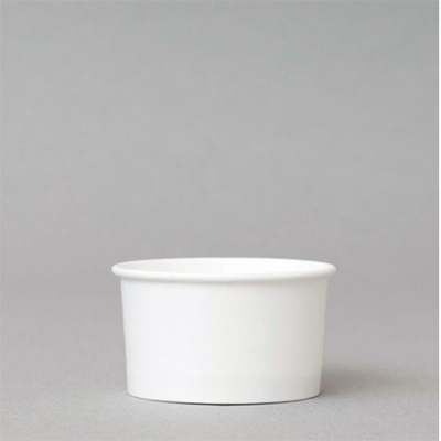 5.5 OZ. PAPER ICE CREAM CUPS 1000 PCS/CS - PLAIN WHITE - CarryOut Supplies