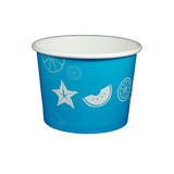 16 OZ. PAPER YOGURT CUPS, FRUIT PATTERN BLUE - 1,000 PCS/CS - (Item: 20910)