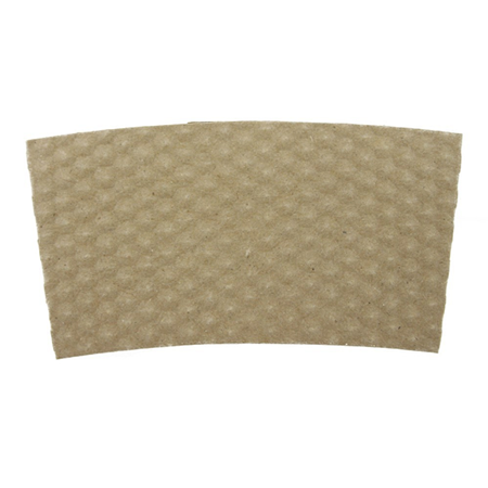10-24 OZ PAPER HOT CUP SLEEVE, KRAFT HEX-TEXTURED - 1,000/CS - CarryOut Supplies