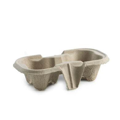 2-CUPS, MOLDED FIBER CARRIER - 100 CT - (item code: 59002) - CarryOut Supplies