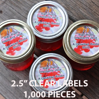 "1,000 pcs Order - 2.5"" CLEAR LABELS - CarryOut Supplies"