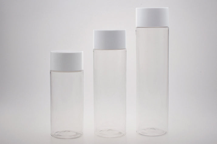PET Clear Cylinder Beverage Bottles - CarryOut Supplies
