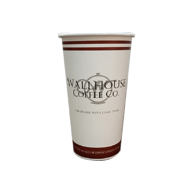 34 CASES - 20 OZ. CUSTOM PRINTED COFFEE CUPS - 50% DEPOSIT REQUIRED - $65.89/CS - CarryOut Supplies