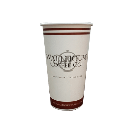 40 CASES - 20 OZ. CUSTOM PRINTED COFFEE CUPS - 50% DEPOSIT REQUIRED - $56.75/CS - CarryOut Supplies