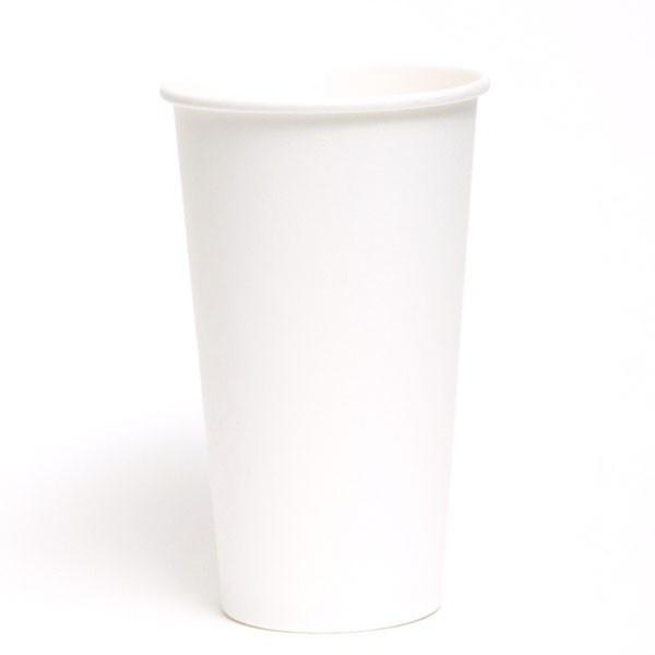 PAPER HOT CUPS (24 OZ.) CUSTOMIZABLE PLAIN WHITE 500pcs/cs - CarryOut Supplies