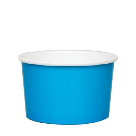 20 OZ. PAPER YOGURT CUPS 600 PCS/CS - BLUE