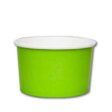 20 OZ. PAPER YOGURT CUPS 600 PCS/CS - GREEN