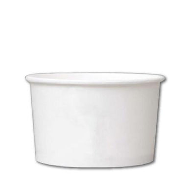 20 OZ. PAPER YOGURT CUPS 600 PCS/CS - PLAIN WHITE - CarryOut Supplies