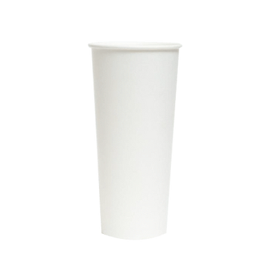 PAPER COLD CUPS (22 OZ.) - PLAIN WHITE - CarryOut Supplies