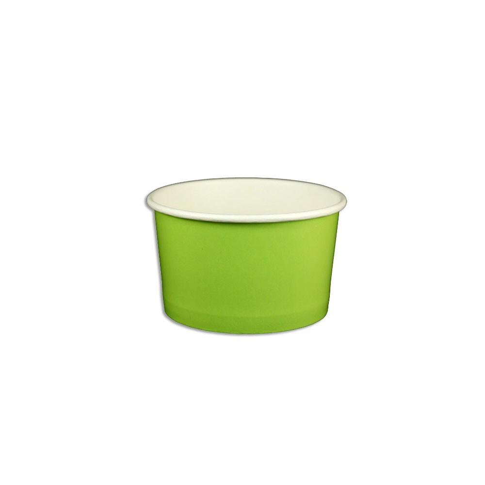 05 OZ. PAPER YOGURT CUPS, SOLID COLOR LIME GREEN - 1,000 / CS - (item code: 23801) - CarryOut Supplies
