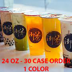 30 CASES - 33 OZ. CUSTOM PRINTED PP PLASTIC CUPS 500pcs/cs - 50% DEPOSIT REQUIRED - $56.67/CS - CarryOut Supplies