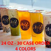 CASES - 24 OZ. CUSTOM PRINTED PP PLASTIC CUPS - 50% DEPOSIT REQUIRED - $56.35/CS - CarryOut Supplies