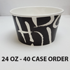 40 CASES - 24 OZ. CUSTOM PRINTED POKE BOWLS 600 PCS/CS - 50% DEPOSIT REQUIRED - $57.75/CS - CarryOut Supplies