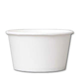 24 OZ. PAPER YOGURT CUP 600 PCS/CS - PLAIN WHITE