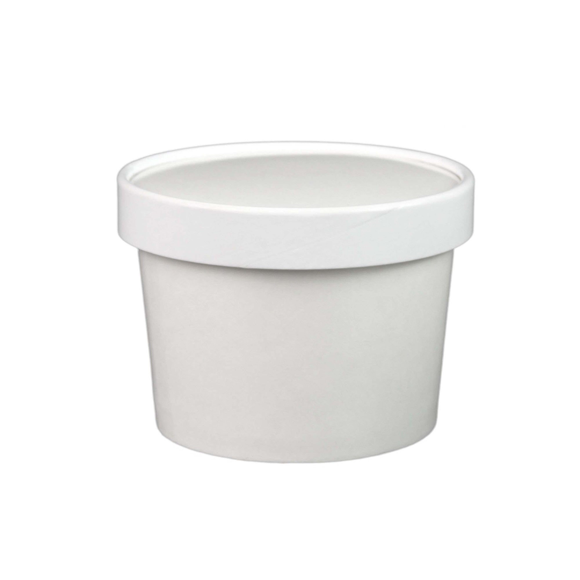 8 Oz Paper Ice Creamsoup Containers White 250 Setscs Item