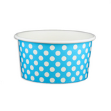 06 OZ. PAPER YOGURT CUPS, POLKA DOT BLUE - 1,000 PCS/CS - (Item: 20661)