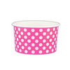 5 OZ. PAPER YOGURT CUPS, POLKA DOT PINK - 1,000 PCS/CS - (Item: 20564) - CarryOut Supplies