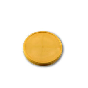 FLAT LIDS FOR PAPER ICE CREAM CONTAINER 3.5 OZ. ( GOLD ) - CarryOut Supplies