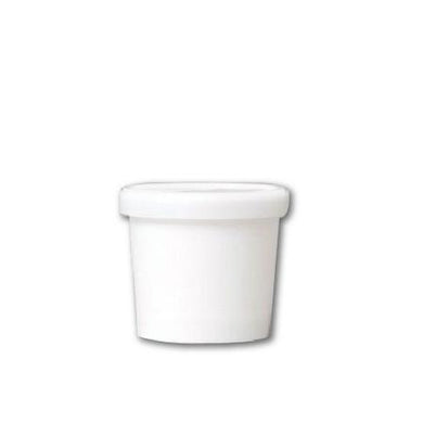 3.5 OZ. PAPER ICE CREAM CONTAINER - WHITE - 1000 PCS/CS - CarryOut Supplies