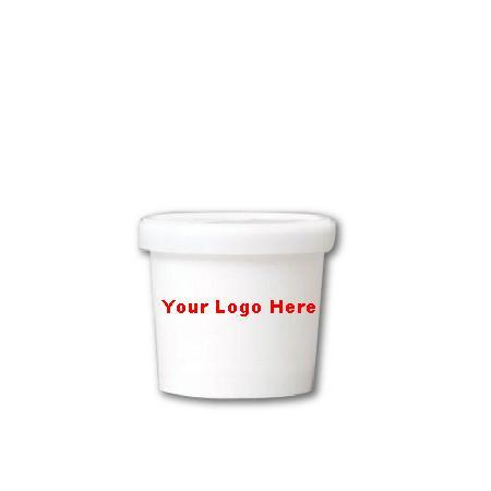 10 CASES - 3.5 OZ. CUSTOM PRINTED ICE CREAM CUPS COMBO WITH PRINTED LIDS 1000 PCS/CS  - 50% DEPOSIT REQUIRED - $161.97/CS - CarryOut Supplies
