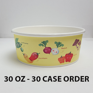 30 CASES - 30 OZ. CUSTOM PRINTED POKE BOWLS 600 PCS/CS - 50% DEPOSIT REQUIRED - $100.00/CS - CarryOut Supplies
