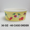 40 CASES - 30 OZ. CUSTOM PRINTED POKE BOWLS 600 PCS/CS - 50% DEPOSIT REQUIRED - $97.00/CS - CarryOut Supplies