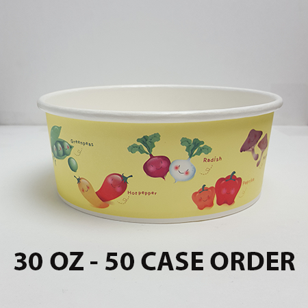 50 CASES - 30 OZ. CUSTOM PRINTED POKE BOWLS 600 PCS/CS - 50% DEPOSIT REQUIRED - $94.00/CS