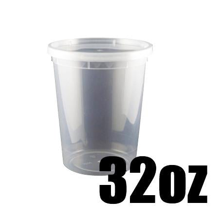 32 OZ. CLEAR ROUND DELI CONTAINER COMBO - 240 CONTAINERS / CS - (Item: 5032) - CarryOut Supplies