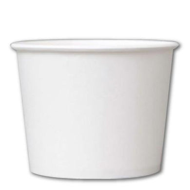 32 OZ. PAPER YOGURT CUPS 600 PCS/CS - PLAIN WHITE - CarryOut Supplies