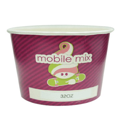 32 OZ. CUSTOM PRINTED YOGURT CUPS - 50% DEPOSIT REQUIRED - FROM $0.099 TO $0.079 CENTS PER CUP - CarryOut Supplies