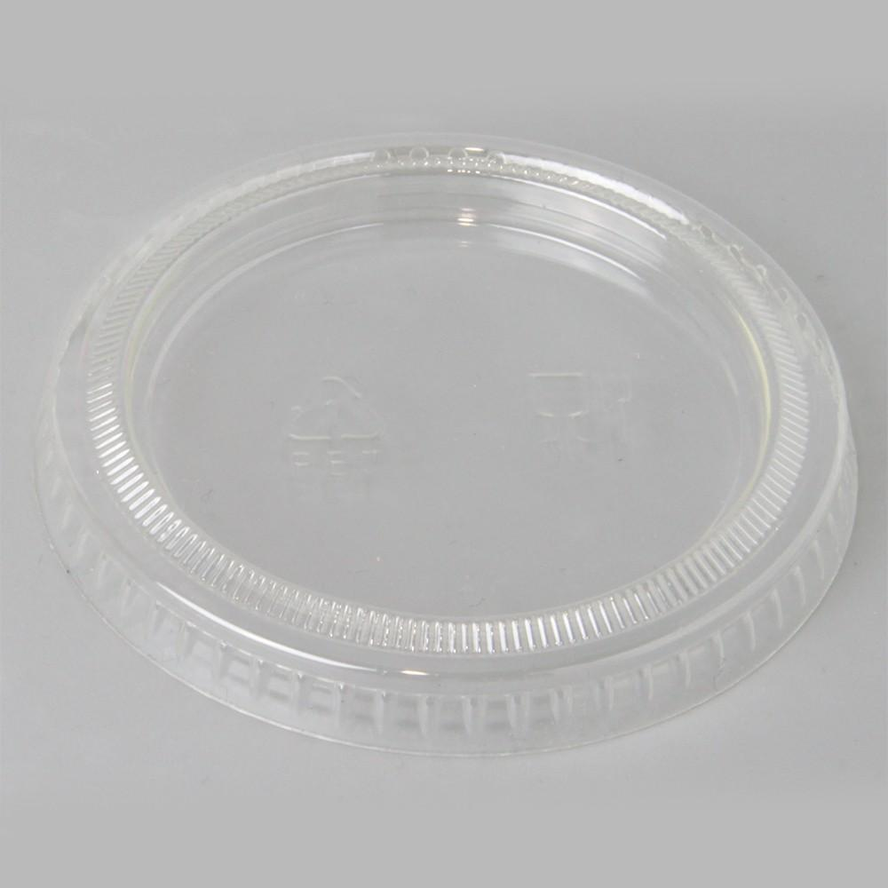 PET FLAT LID FOR 1.5-2 OZ PP PORTION CUPS - 2500PC - (item code: 38080) - CarryOut Supplies