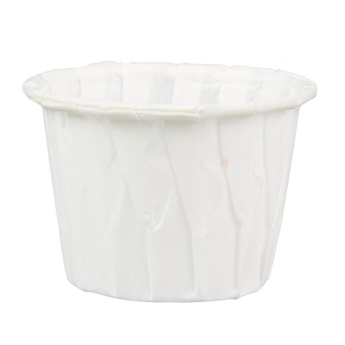 Solo 0.75 oz White Paper Souffle / Portion Cup - 1 case (5000 piece) - CarryOut Supplies